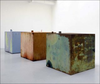 Cuves 02, installation, Simon Boudvin