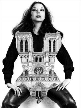 ORLAN, ORLAN et la cathédrale Notre-Dame de Paris, photo