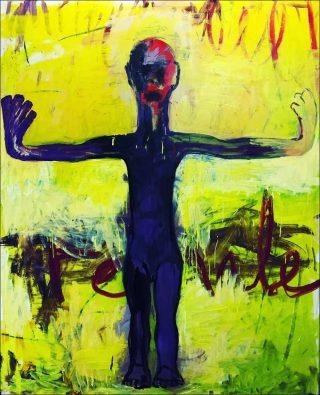Female, Huile et acrylique sur toile, Gaston Damag