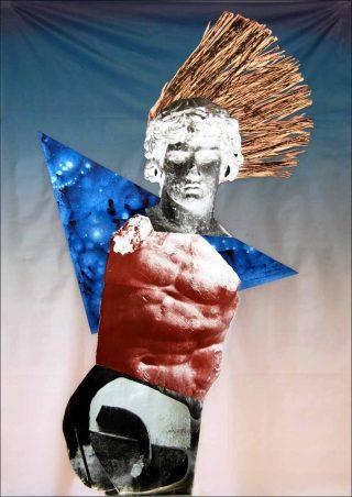 La danse de Jupiter, impression et sérigraphie sur tissu, Raphaël Barontini