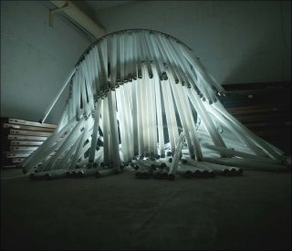 Lustre, sculpture, Jeanne Berbinau-Aubry
