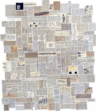 Encyclopédie Rectangle, collage, Anne-James Chaton