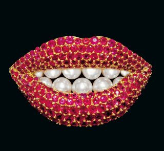 Broche Ruby Lips, broche, Henryk Kaston