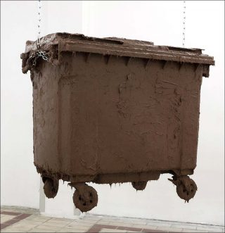 Container, installation, Laurent Faulon