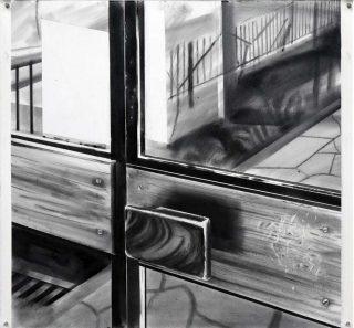 Porte, 50 rue des Envierges, dessin, Yves Bélorgey