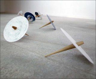 Discques, installation, Gaëtan Kohler