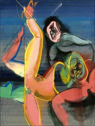 Klebriges von mir, peinture, Daniel Richter