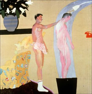 Domestic Scene, peinture, David Hockney