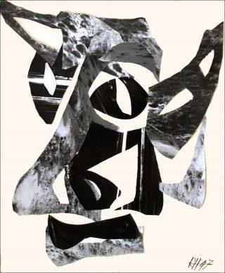 Le Minotaure, photographie collage, Raoul Hausmann