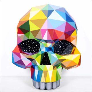 Skull, peinture, Okuda