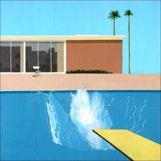 A Bigger Splash, peinture, David Hockney
