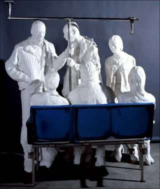 Bus passengers, sculpture, George Segal