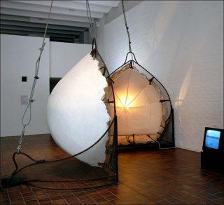 Adjustable Wall Bra, installation, Vito Acconci