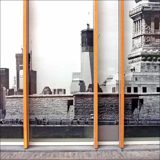 Financial Surrrealism (World Trade Center II) Development hoarding, photo, Mark Curran
