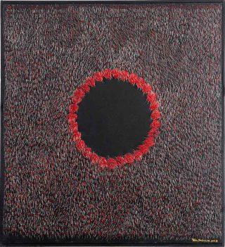 Art épingle teryzm 4, technique mixte, Teresa Tyszkieiwcz