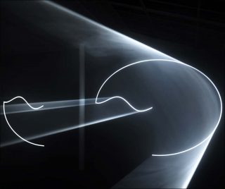 Leaving (With Two-Minute Silence), installation, Anthony McCall