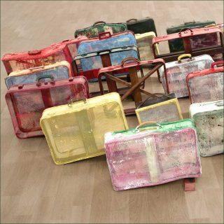 Tableaux-valises, installation, Daniel Dezeuze