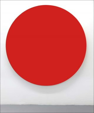 Untitled (Red), peinture, Olivier Mosset