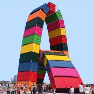 Catène de Containers, sculpture, Vincent Ganivet