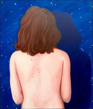 Le fond du ciel, peinture, Lise Stoufflet