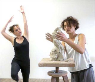 Paysage-mouvement, performance, Caroline Chopin, Sarah Nouveau et Samuel Allain