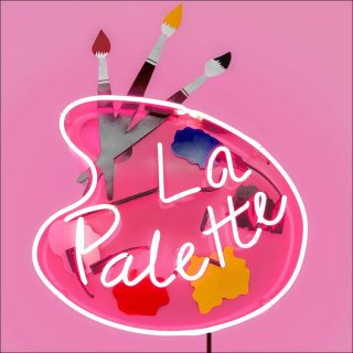 La Palette sign, sculpture, Richard Jackson