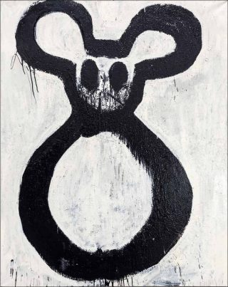 Maxi Mickey, peinture, Joyce Pensato
