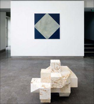 Vue d'exposition, Raphaël Zarka et Emmauel Va der Meulen