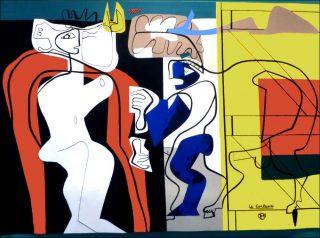 La Femme et le maréchal ferrant, tapisserie, Le Corbusier