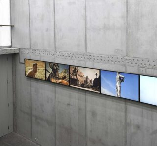 The Beginning. Living Figures dying, installation vidéo HD, Clemens Von Wedemeyer