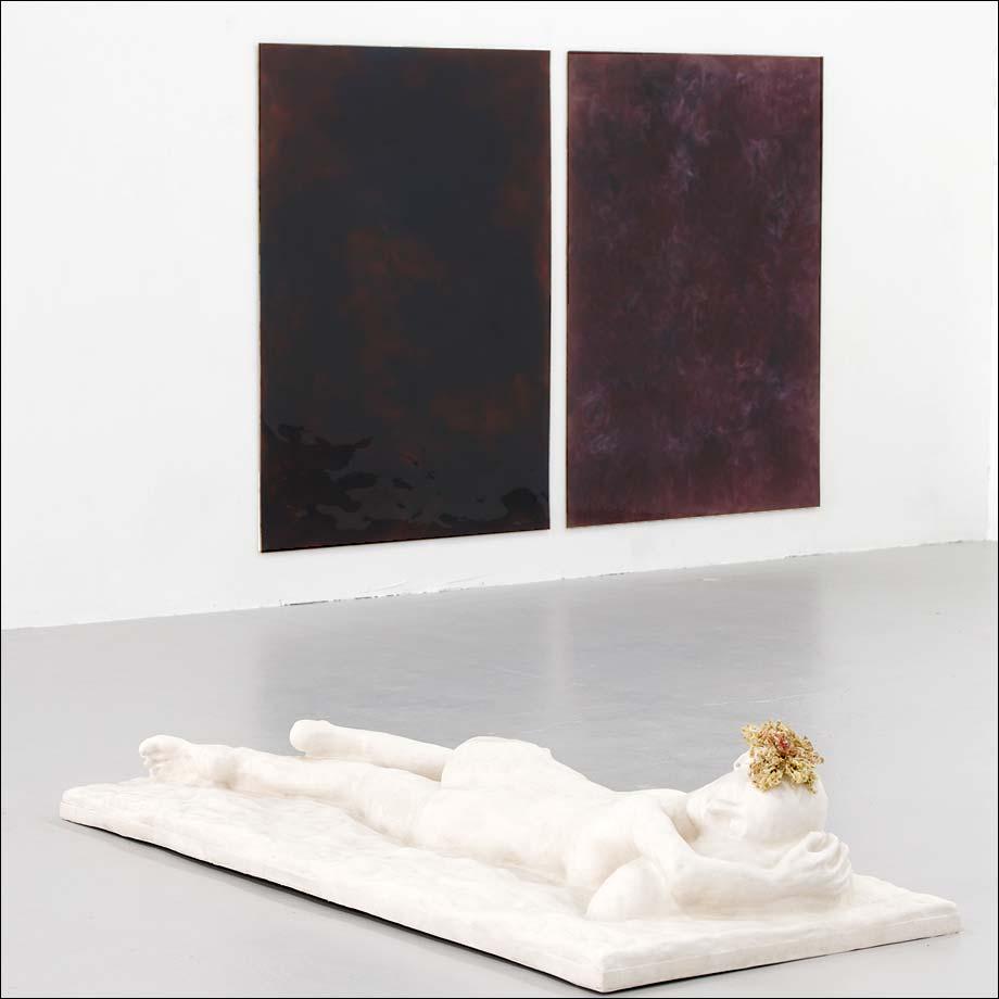 Sans titre, 2018 et Juin, 2018, sculptures, Morgan Courtois