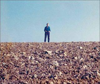 Gina Pane, Situation idéale : Terre-Artiste-Ciel (détail), 1969.