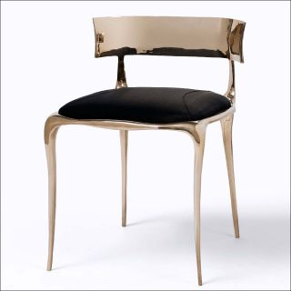 Paul Mathieu, Aria Side Chair (Bronze)