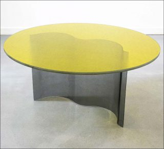 Sophia Taillet, collection Curve - table jaune, 2018-2019
