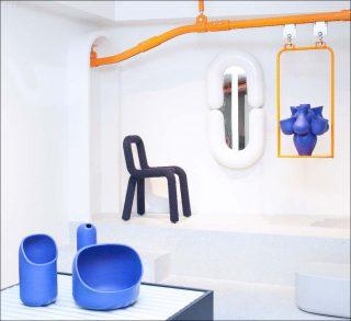 Moustache, En Bande Organisée et Julien Dufresne architecte (conception et scénographie), Moustache Store Paris, 2019