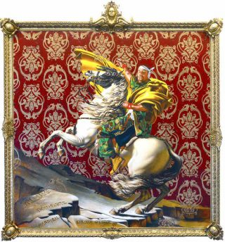 Kehinde Wiley, Napoleon Leading the Army over the Alps, 2005.