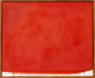 Arnulf Rainer, Übermalung Rot auf Weiss, 1966.
