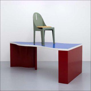 Alessandro Mendini, bureau Bandiera et chaise Biribi, 1988