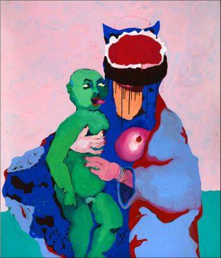 Eugénie Bachelot-Prévert, La Vierge à l'enfant, 1998.