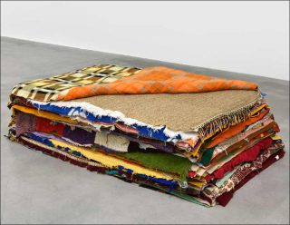 Matthew McCaslin, Bedding Bed , 1989-2013.