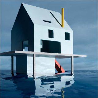 James Casebere, Blue House on Water #2 (détail), 2019.