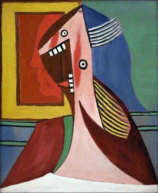 Pablo Picasso, Buste de femme avec autoportrait, 1929.