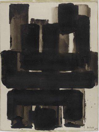 Pierre Soulages, Sans titre, 1954.