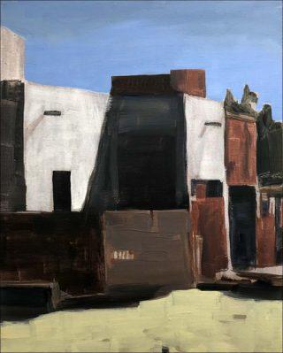 Arthur Aillaud, Maisons, murs blancs, 2020.